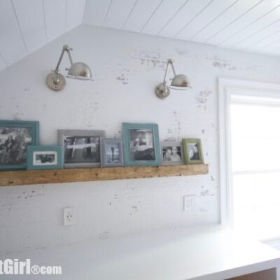 Picture Ledge – Faux Reclaimed Beam