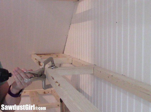 installing wooden shelves