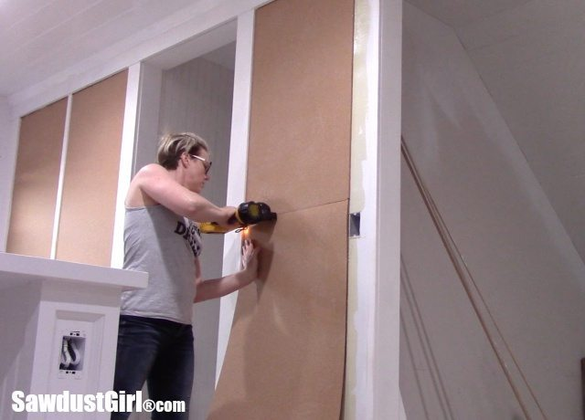 Installing Cork Wall