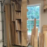 Rolling Lumber Cart for Vertical Wood Storage
