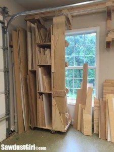 Vertical Wood Storage Lumber Cart