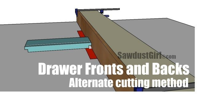 methods for cutting joints for cabinet drawers