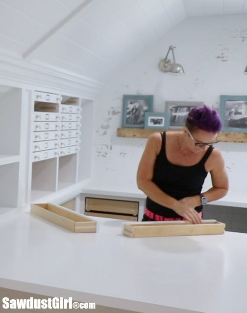 Map Drawers - Craft Room Storage