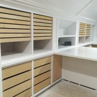 Small Drawers on Wood Drawer Runners