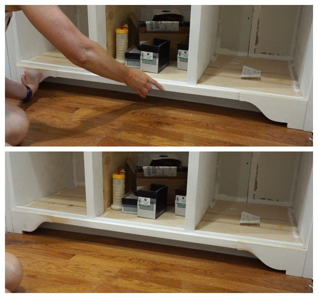 kitchen cabinets without toe kick decorative toekick and loss prevention day 6 21457