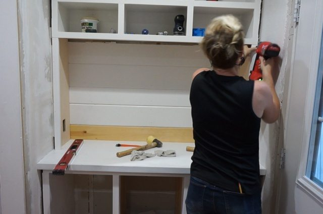 Turning Cabinets into a Built-in Hutch