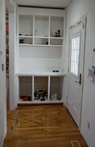 Creating a Built-in Hutch – Kitchen Entry Makeover Day 3