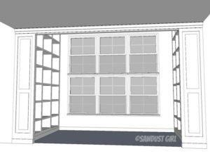 Fawn's Built-in Bookshelf Plans
