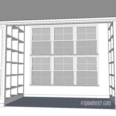 Fawn's Built-in Bookshelf Plans