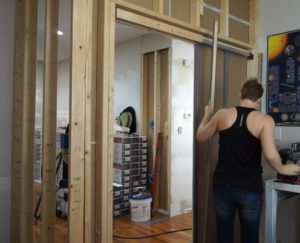 Creaky Pocket Door Fix'n – Kitchen Entry Makeover Day 5