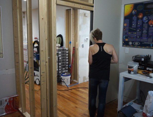 Fixing a creaky pocket door frame