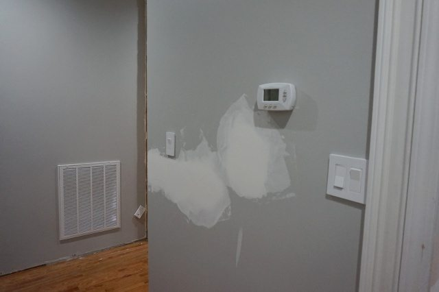 Moving light switches and patching drywall