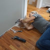 FIxing vacuum sweep and patching drywall