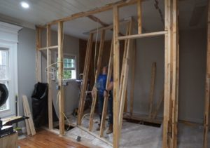 Jack and Jill Bathroom – Framing