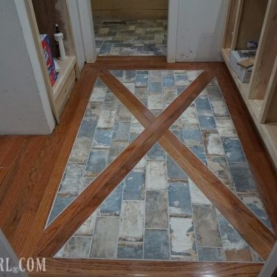 How to Install a Wood Floor with Tile Inlay