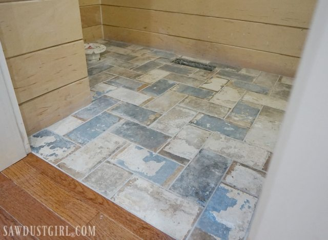 How To Install Tile Flush With Hardwood Floors Sawdust Girl - What do i need to install tile floor