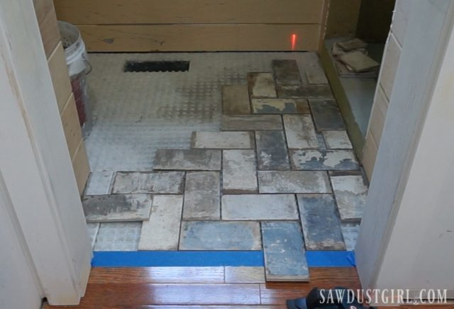 How To Install Tile Flush With Hardwood Floors Sawdust Girl