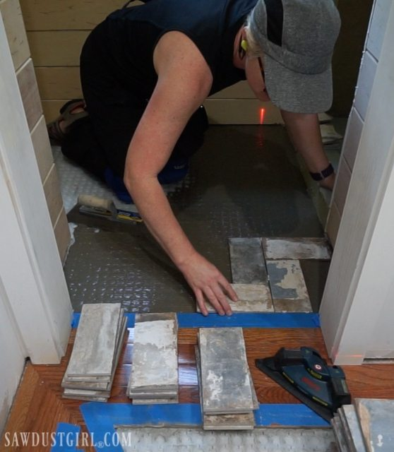 How To Install Tile Flush With Hardwood Floors Sawdust Girl 174