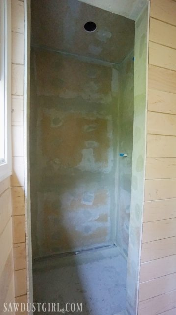Waterproof Shower Wall Board Installation - Sawdust Girl®