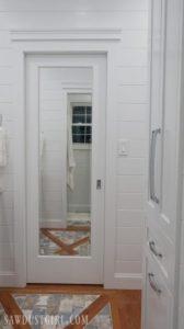 Mirrored Pocket Door – Jack and Jill Bathroom Update