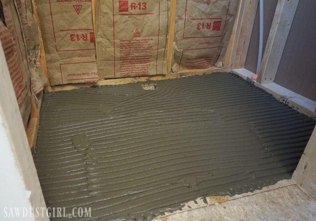 Tile ready shower pan installation