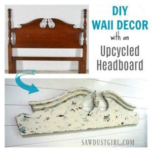 DIY Wall Decor Art Idea- Upcycled Headboard