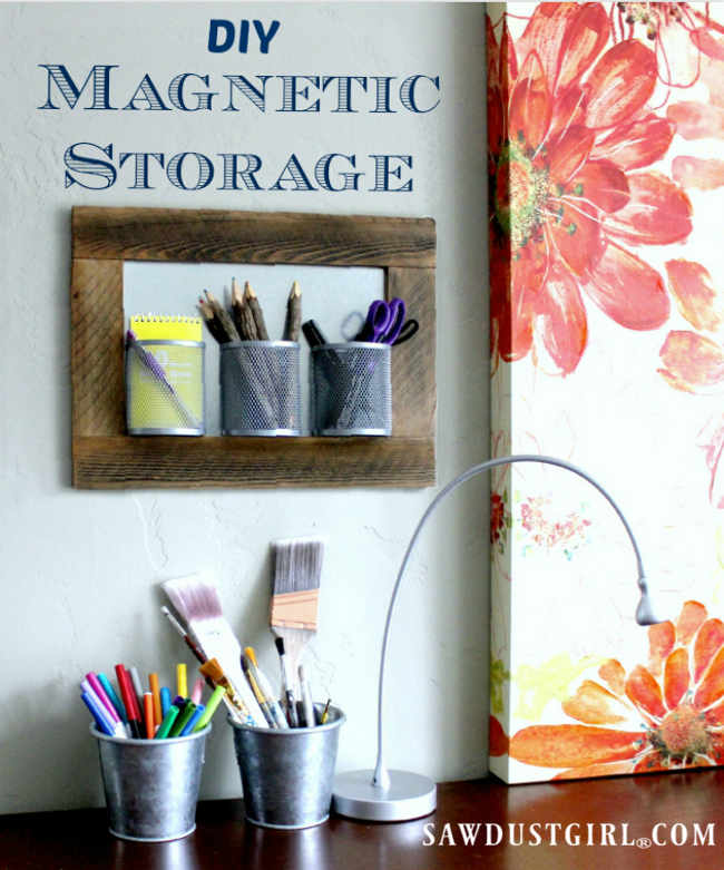 Declutter any space with cheap easy DIY Magnetic Storage Boards. They are a snap to put together, and at under $5, they make great gifts