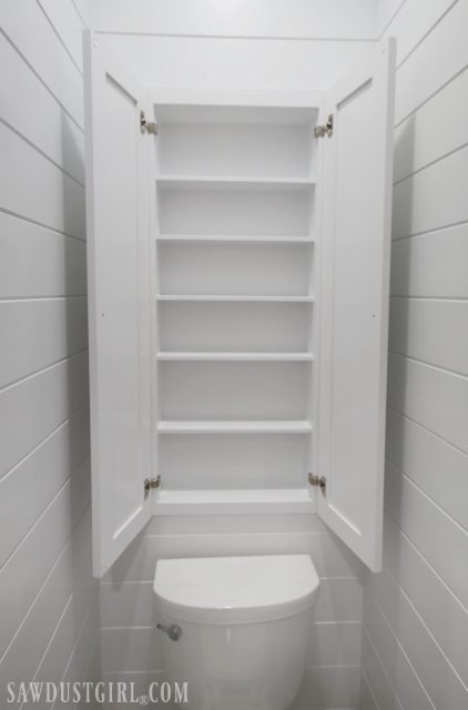 Recessed Wall Cabinet For Toilet Paper Storage Sawdust