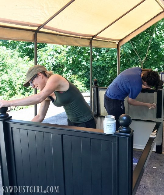 Painting Upcycled Daybed
