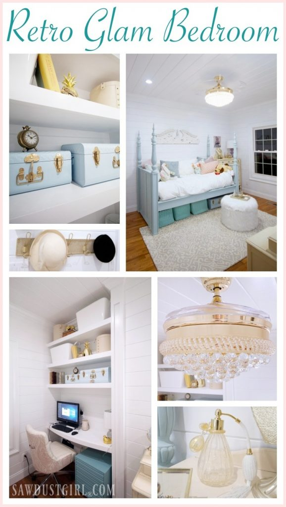 Retro glam bedroom reveal