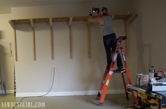 Building Garage Shelves - Cantilevered Shelf Brackets