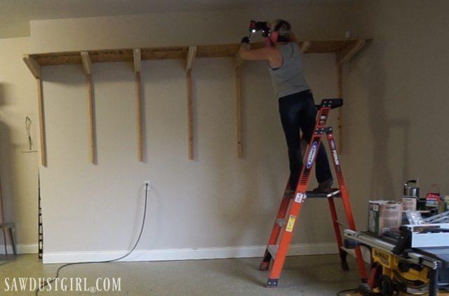 Building Garage Shelves - Cantilevered Shelf Brackets