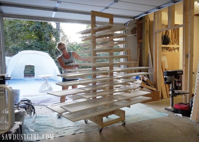 Paint Drying Rack for Cabinet Doors - Sawdust Girl®