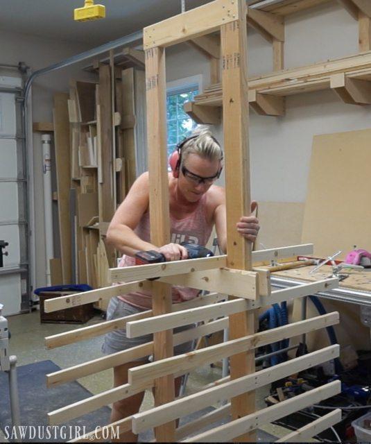 Drying Racks For Cabinet Frames ~ Paint drying rack for cabinet doors sawdust girl