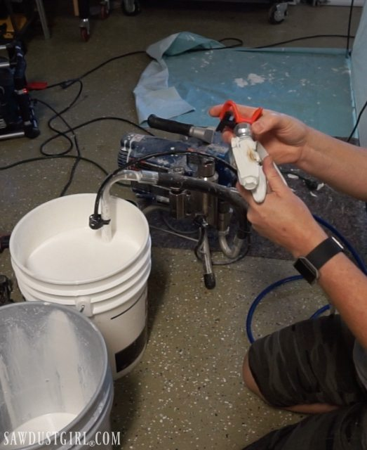 Painting With An Airless Sprayer Cabinetnow Doors