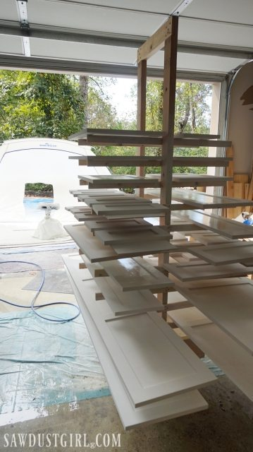 painting booth and drying rack