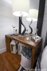 DIY Tables – Two Nightstands for the Guest Bedroom