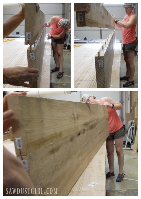 Joining wood with loose tenons to create a single plank for two nightstands.