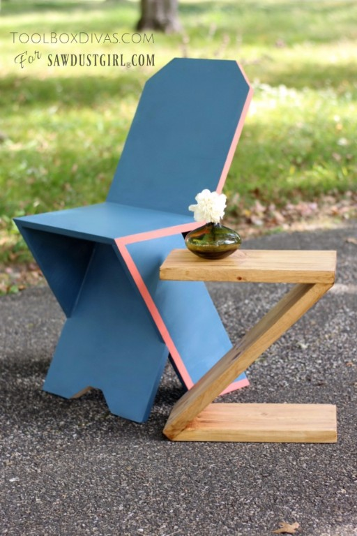 Modern plank chair. Easy to follow instructions to build a diy chair that is both a work of art and a functional piece of furniture.