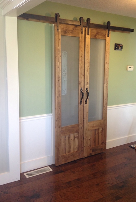 Sliding double barn doors