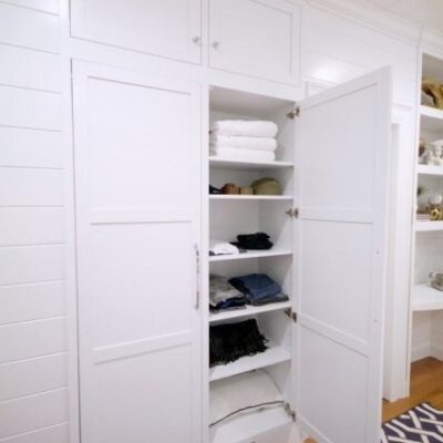 Tiny Closet in Guest Bedroom