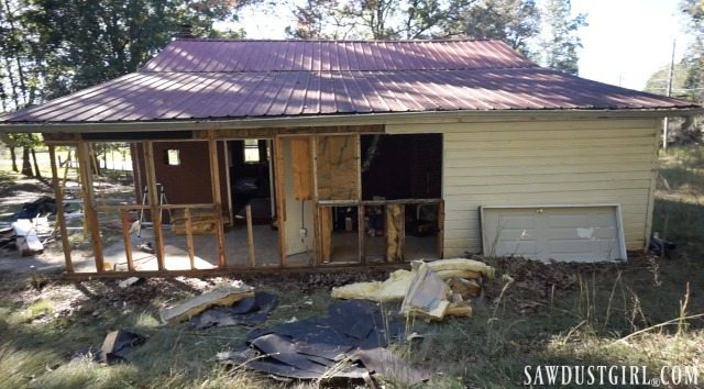 Calderwood Cottage beginning rebuild