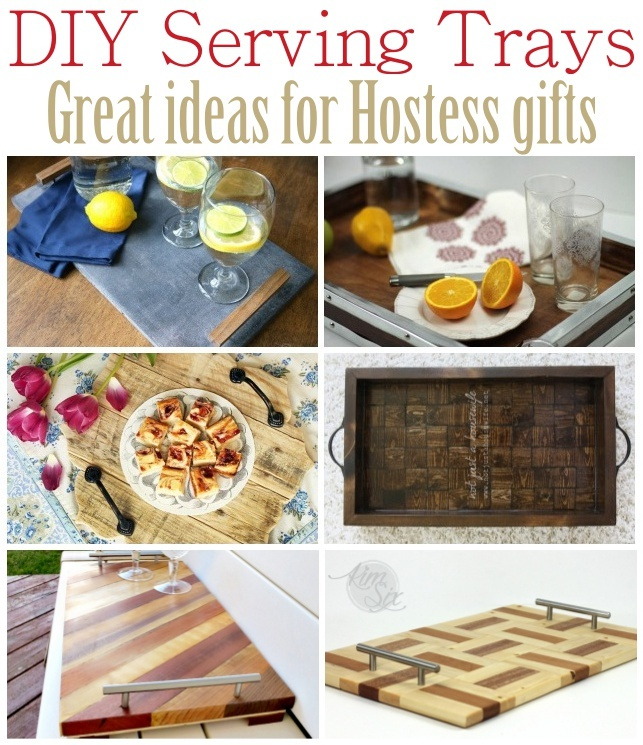 Ideas For Hostess Gifts For Dinner Party Part - 41: DIY Serving Tray U2013 Great Ideas For Hostess Gifts
