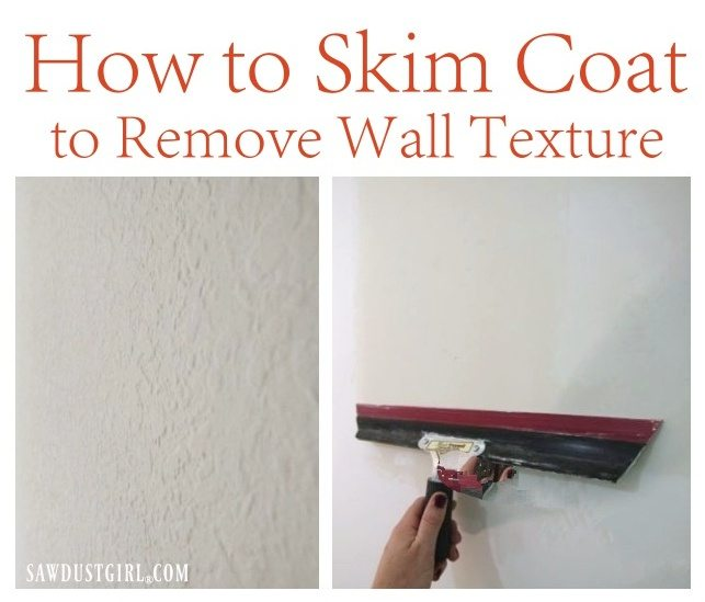 how to skim coat to remove wall texture sawdust girl. Black Bedroom Furniture Sets. Home Design Ideas