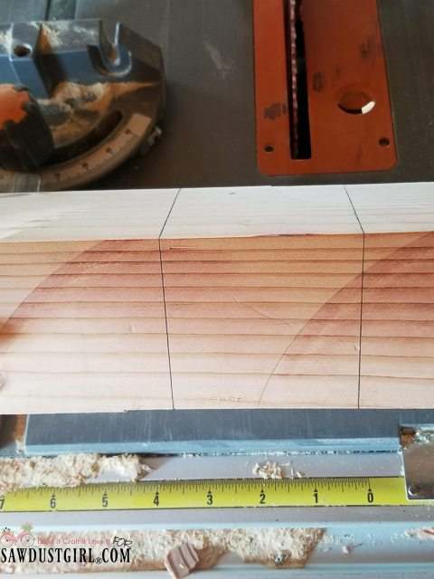 How To Cut A Half Lap Joint On A Table Saw Sawdust Girl 174