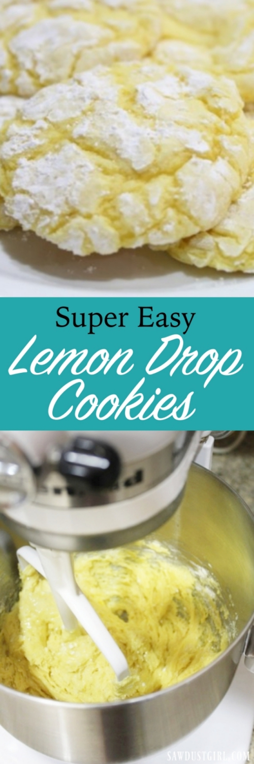 Super easy Lemon Drop Cookies