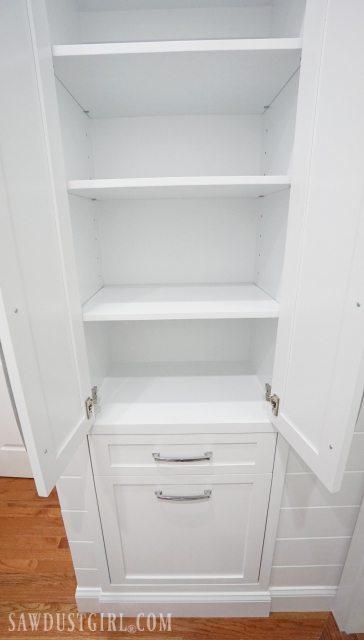 Beautiful Built-in Linen Cabinet - Sawdust Girl® YT34