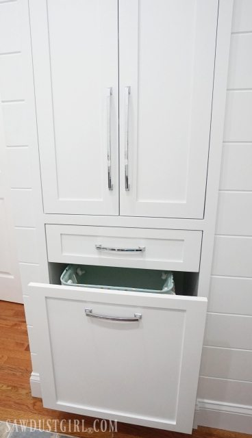 Linen Tower With Tilt Out Hamper