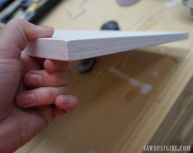 How to get smooth edges with painted plywood