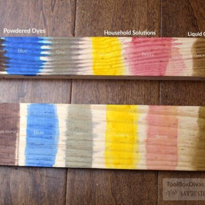 Exploring Wood finishings: Wood Dyes
